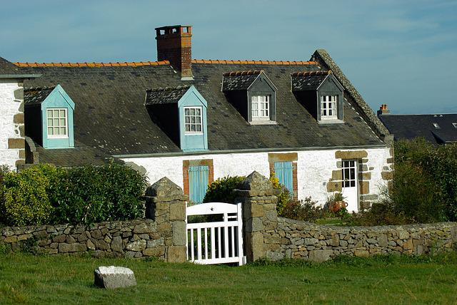 France, Normandy, Fisherman's House, Port