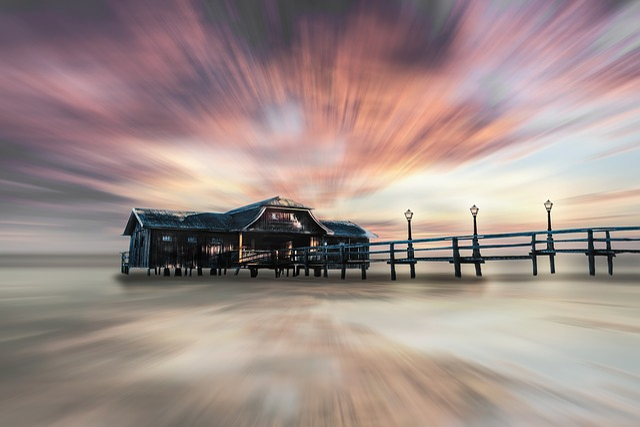 Sea, Lake, Water, Nature, Fisherman's House, Sunset