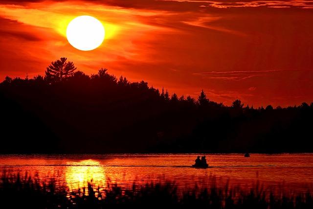 Sunset, Twilight, Landscape, Fishermen, Evening, Sun