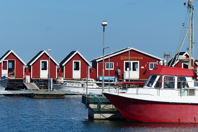 Fishermen's Cabins, Fishing, Port, Fishing Boat, Sea