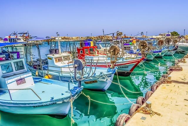 Fishing Boat, Reflections, Harbor, Island, Protaras
