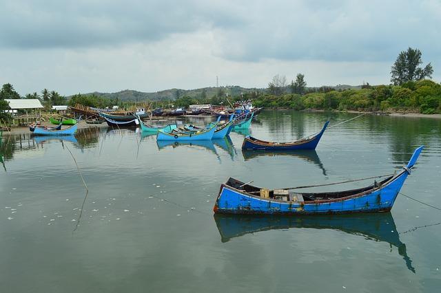 Fishing Boats, River, Asian, Rowboats, Boats, Skiffs