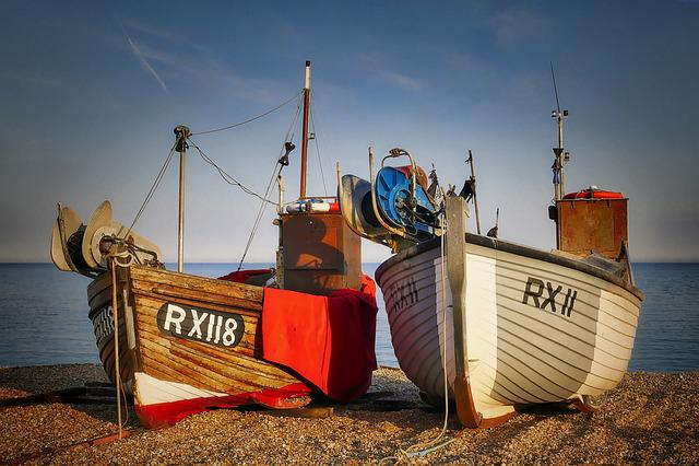 Fishing Boats, Fishing Port, Beach, Sea