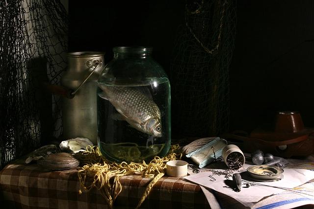 Still Life With Fish, Fishing, Catch, Crucian, Bank