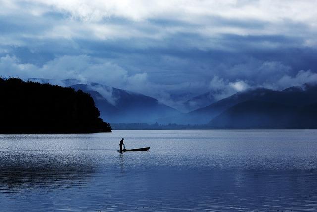 Lugu Lake, Early In The Morning, Fishing, Fishing Boats