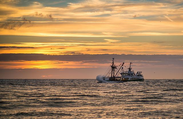 Sunset, Ship, Cutter, Fishing Vessel, Fishing