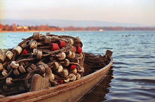 Fishing Boat, Net, Fishing, Boat, Sea, Water, Fish