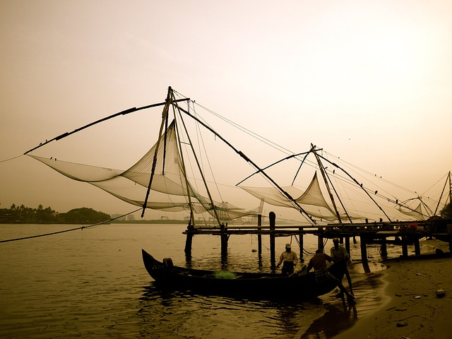 Fishing, Chinese, Fishing Nets, Tradition, Shore, Boats