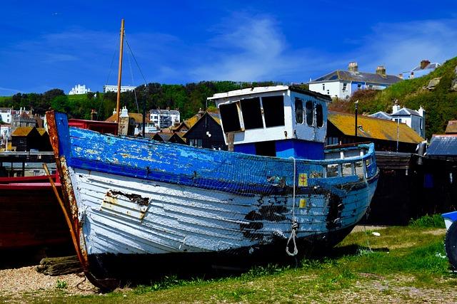 Hastings, Boats, Bo, Fishing, Beach, Ship, Coast