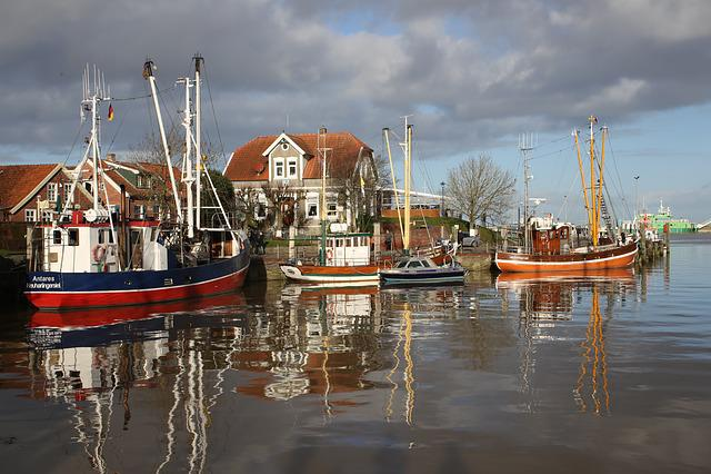 Fishing Vessel, Fishing Boats, Port, Neuharlingersiel