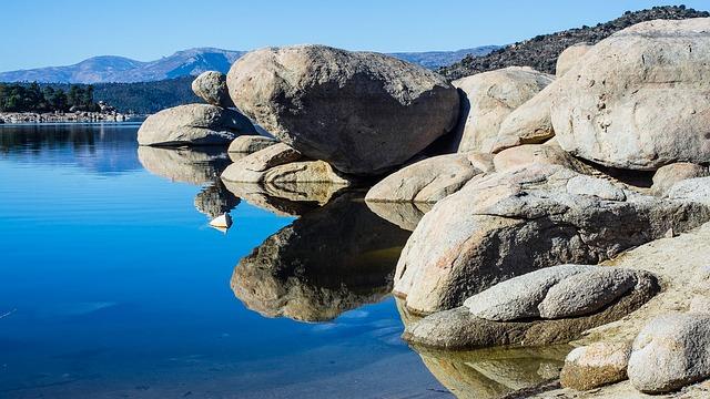 Swamp Burguillo, Water, Fishing, Rural, Rocks, Avila