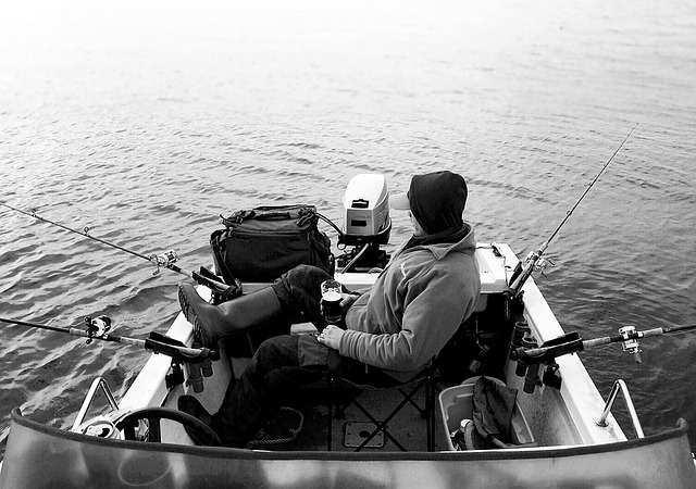 Fishing, Boat, Man, Windermere, The Lake District