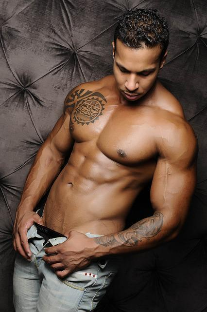 Man, Fitness, Model, Body, Skin, Shirtless, Black Man