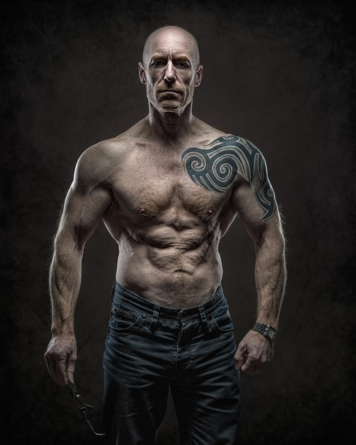 Athlete, Brawny, Strong, Fitness, Man, Shirtless