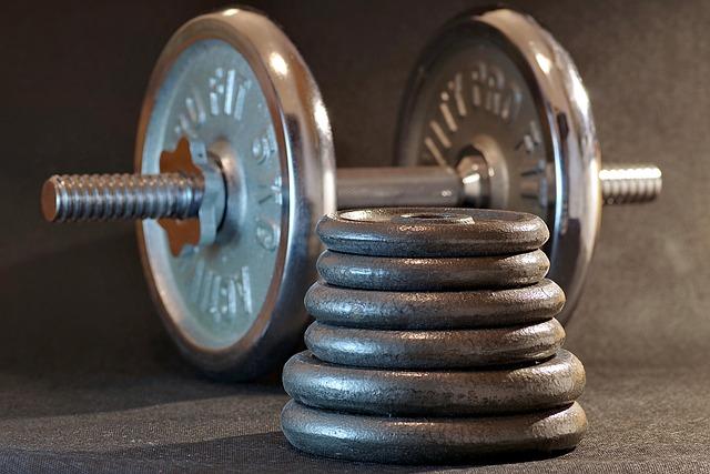 Sport, Gym, Fitness, Bodybuilding, Dumbbell, Metal