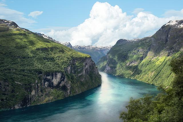 Fjord, Norway, Mountain, Landscape, Panorama, Sea
