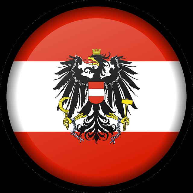 Flag, Austria, Red, White, National, Eagle