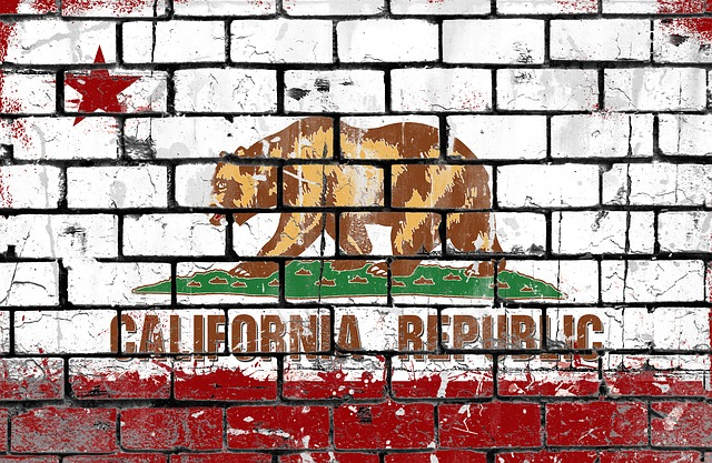 Free Photo Flag California Brick Wall Grunge