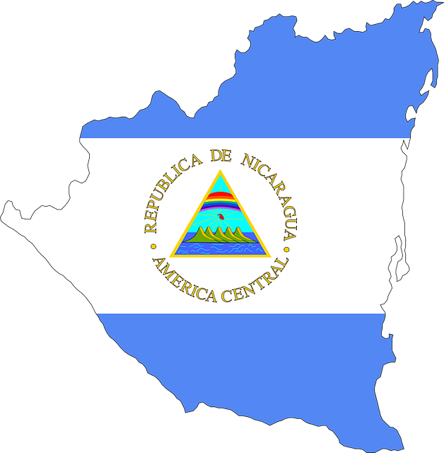 Nicaragua, Central America, Flag, Map, Country