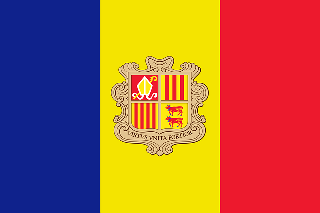 Andorra, Flag, National Flag, Nation, Country, Ensign