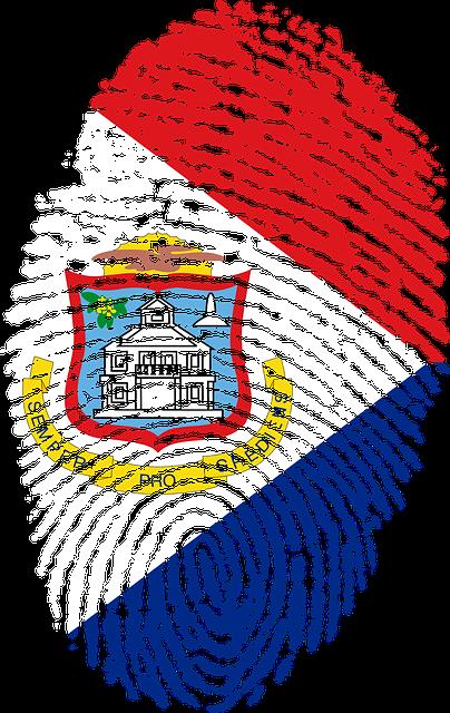 Sint, Maarten, Flag, Fingerprint, Country, Pride