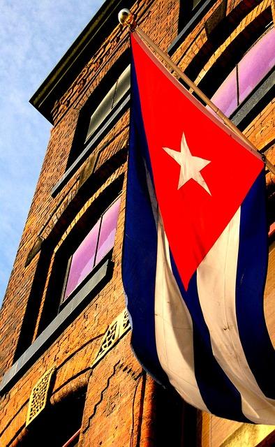 Building, Manchester, Cuban Flag, Flag, Banner, Cuba