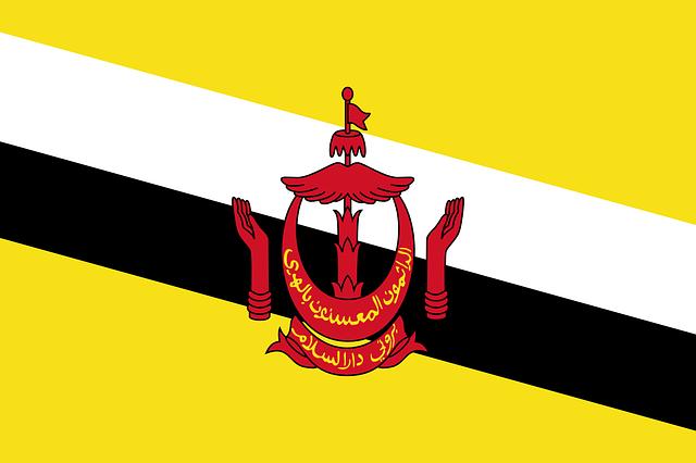 Brunei, Flag, National Flag, Nation, Country, Ensign