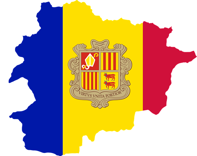 Andorra, Country, Europe, Flag, Borders, Map, Nation