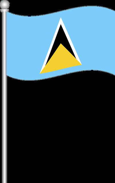 Flag Of Saint Lucia, Flag, Saint Lucia, World