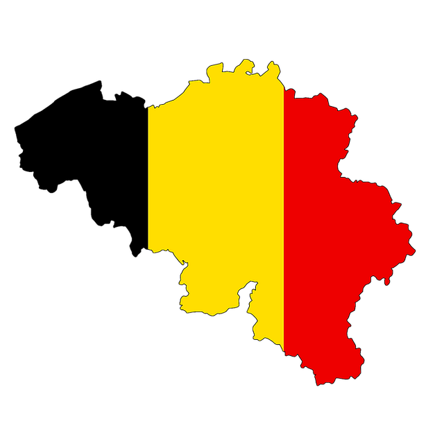 belgium map flag land country borders