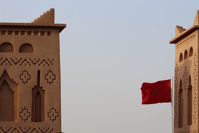 Morocco, Flag, Wave