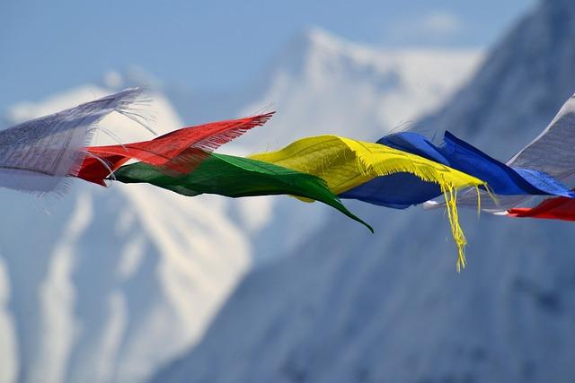 Tibetan Prayer Flags, Flags, Color, Mountain, Flag