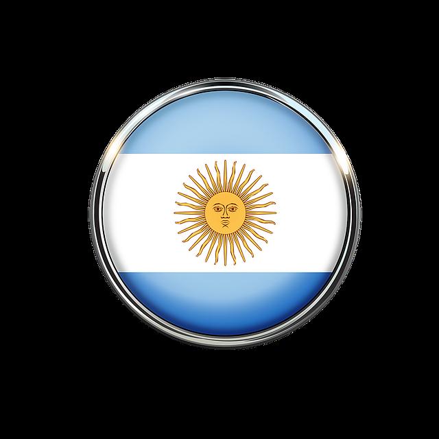 Argentina, Flag, Circle, Nation, Country, Celeste