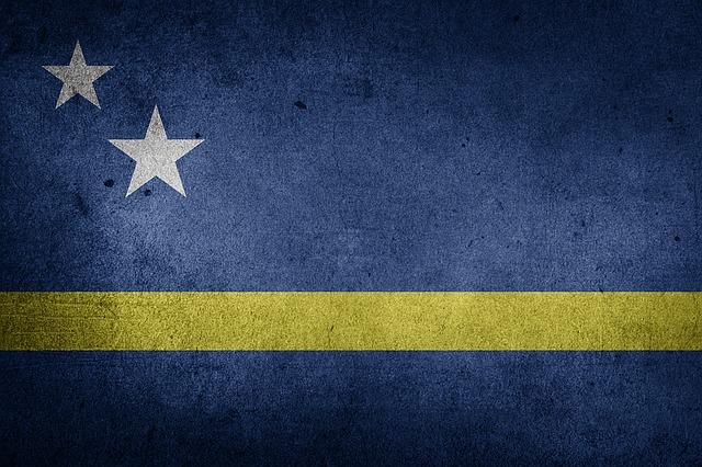 Flag, Curacao, Caribbean, National Flag, Grunge