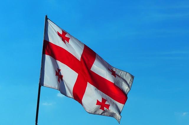 Georgian Flag, The Flag Of Georgia, Flag, Georgia