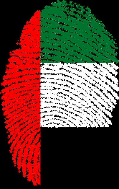 United Arab Emirates, Flag, Fingerprint, Country, Pride