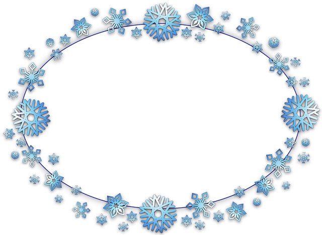Frame, Border, Oval, Card, Xmas, Christmas, Snow, Flake