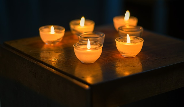 Background, Candle, Candlelight, Church, Chapel, Flame
