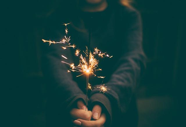 Sparkler, Firework, Celebrate, Celebration, Flame, Hand
