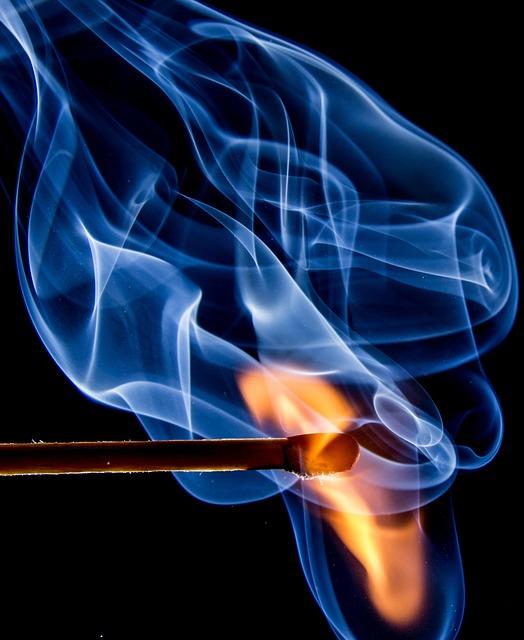 Fire, Match, Flame, Sulfur, Burn, Ignition, Close