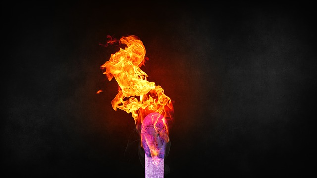 Fire, Match, Flame, Close Up, Burn, Macro, Sulfur