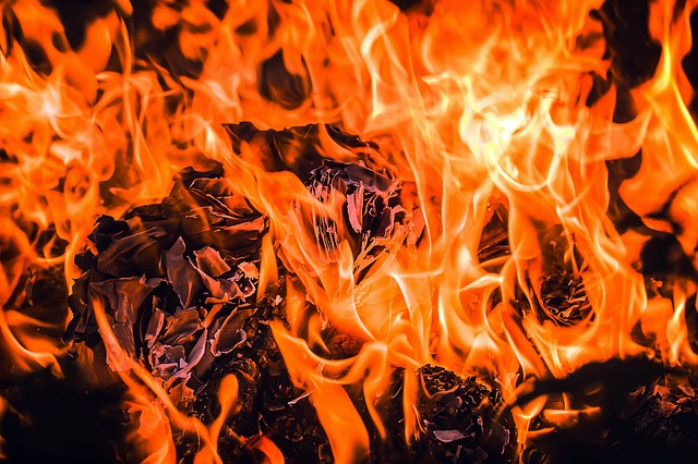 Fire, Embers, Flame, Paper Combustion, Shredding
