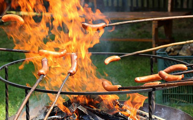 An Outbreak Of, Sausages, Burning, Sausage, Flames