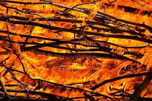Fire, Flames, Campfire, Heat, Lena, Embers