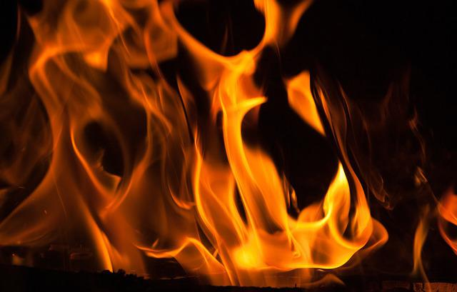 Fire, Flames, Fireplace, Heat