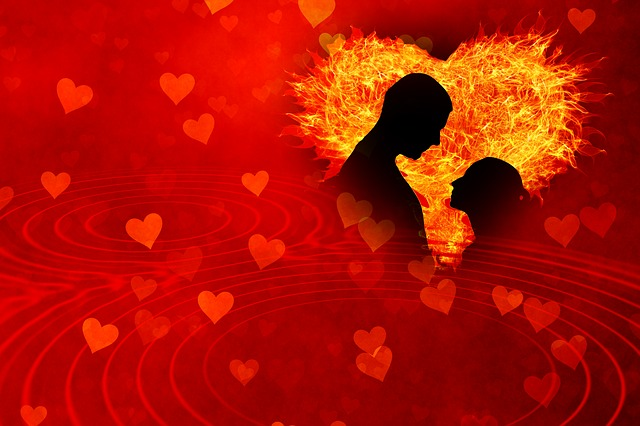 Heart, Love, Flame, Lovers, Man, Flare-up, Woman