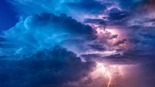 Thunderstorm, Flashes, Flash, Weather, Sky, Forward