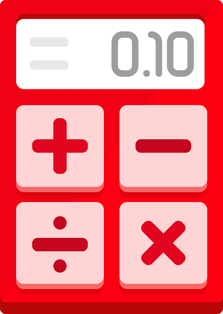 Calculator, Red, Flat Design, Minimalist, Operations