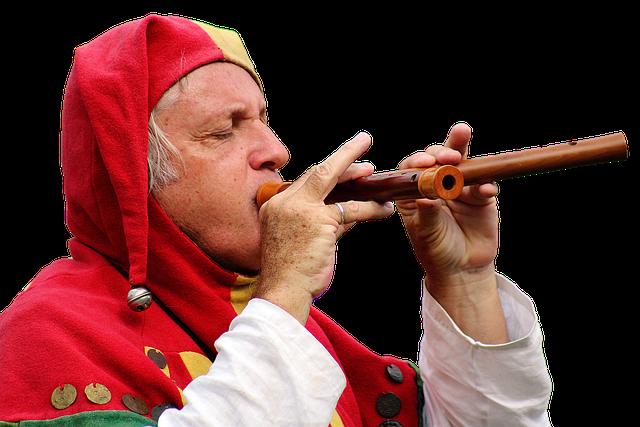 Jester, Musician, Flautist, Costume, Harlequin