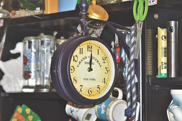 Flea Market, Junk, Clock, Old, Antique, Antiques